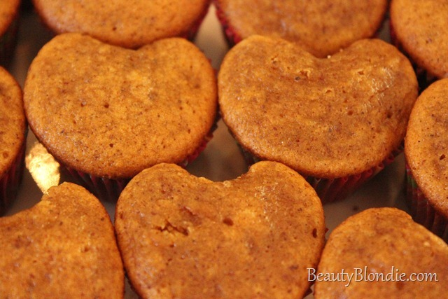 Beautiful Heart Shaped Muffins
