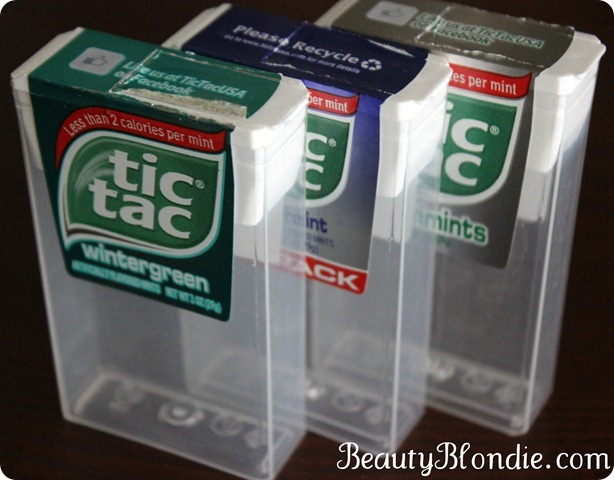 Tic Toc Containers Used For Organizing At BeautyBlondie.com